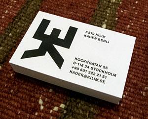 Bild på visitkort